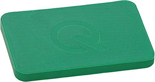 greenteQ Premium Unterlegplatten - Abstandshalter, Plättchen aus Kunststoff | hohe Tragkraft | 100 Stück 60x40x5mm Grün