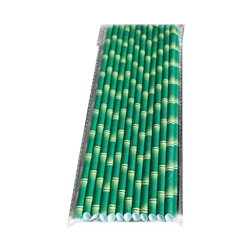 25 pajitas de papel desechables con boca inclinada, tienen unos patrones exquisitos que se pueden utilizar para fiestas, bares o decoraciones principales, requieren entretenimiento, no reutilizables.