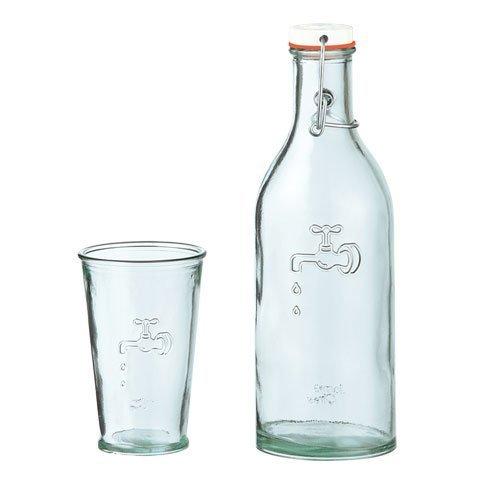 Jamie Oliver Wasserflasche 1 ltr. mit Trinkglas 0,35 ltr.