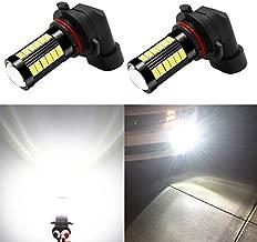 Alla Lighting HB4 9006 LED Fog Lights Bulbs 2800 Lumens Xtreme Super Bright 5730 33-SMD for Cars,