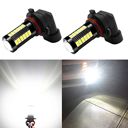 Alla Lighting 9006 LED Fog Light Bulbs 2800 Lumens Xtreme Super Bright 9006 LED Bulb 5730 33-SMD LED 9006 Bulb HB4 9006 LED Fog Lights for Car Truck Van - 6000K Xenon White