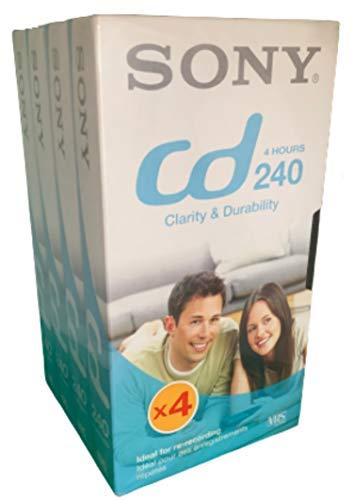 Sony CD 240 Minuten - 4 Pack - VHS Leerkassetten
