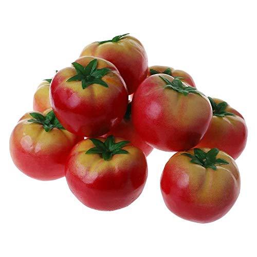 Uteruik - Tomate Artificial para Vegetales y Verduras Artificiales, 10 Piezas