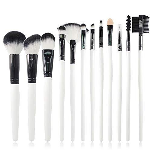 12 pinceaux de qualité professionnelle synthétiques de qualité supérieure pour mélanges de fond de teint poudre correcteur blush surligneur Brosse à maquillage XXYHYQ