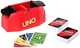 UNO Showdown Quick Draw Family Card Game with 112 Cards & UNO Showdown Unit for Ages 7 Years Old & Up, Gift for Kid,...