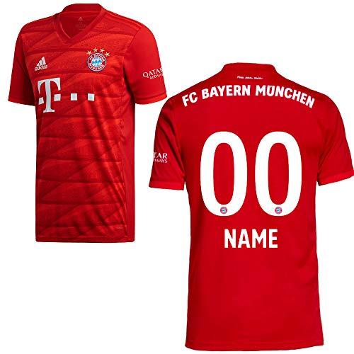 adidas FCB FC Bayern München Trikot Home Heimtrikot 2019 2020 Herren Wunschname 00 Gr M