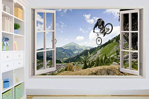 Mountain Bike Biker Xtreme Sports Wall Sticker Room Decoration Decal Mural