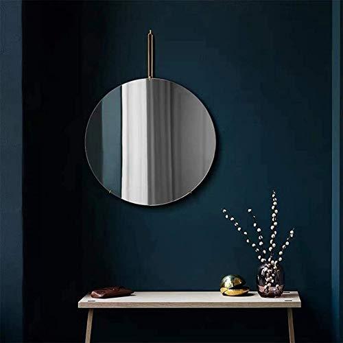 Badkamer ronde spiegel wc wc-muur gemonteerde spiegel persoonlijkheid creatieve make-up spiegel aan de muur gemonteerde badkamerspiegel,Black,30cm