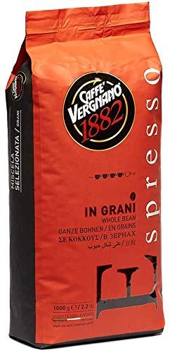 1 kg Caffè Vergnano Espresso Grani. Vigoroso e Crema Invitante. Coffee Beans Espresso