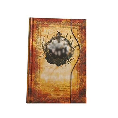 Cuadernos de diario en blanco de papel rayado plan Cierre magnético Página de color Cuaderno de la vendimia Calendario Papelería Diario Libro Bloc de notas Escuela Oficina Suministro Paquete de trabaj
