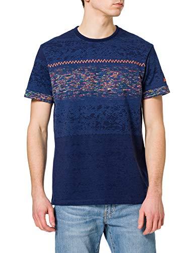 Desigual TS_CATALDO Camiseta, Azul, L para Hombre