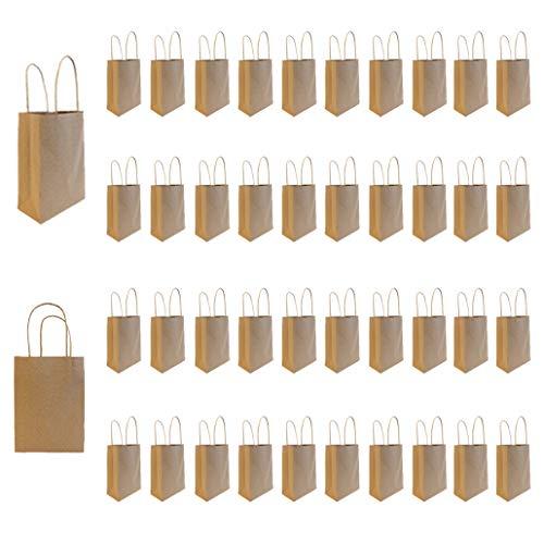 Projects Papieren tas van gerecycled kraftpapier - milieuvriendelijk FSC-certificaat - opvouwbare kleine zakken - Spar Set - draagtas met gecordelde handgrepen - cadeautasjes bruin - cadeautje