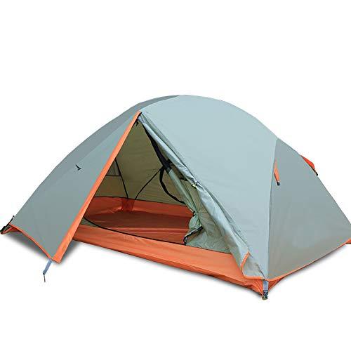 XMH Tente De Camping Double Couche Ultra Légère, Double Tente De Randonnée Extérieure, Tente Imperméable Ultra-Légère De Dôme pour Le Trekking, Camping Aventure Trekkers,Gris