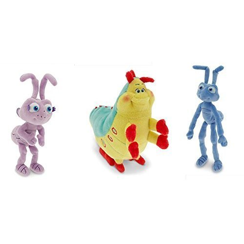 Disney A Bugs Life- Plush Set of 3- Flik, Dot and Heimlich- 8 inches tall