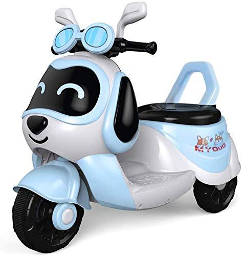 FEE-ZC Kid Safety Kids Ride on Motorcycle, 6V Batería de 3 Ruedas Moto para niños Niños y niñas, Triciclo Motor eléctrico Bicicleta con Faros y música