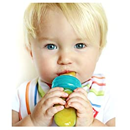 Nuby EZ Squee-Z Silicone Self Feeding Baby Food Dispenser