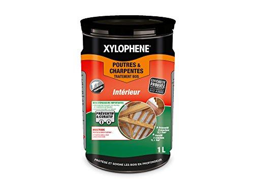 XYLOPHÈNE - Traitement Poutres & Charpentes - Anti Insectes - Traite les Bois de Charpente - Incolore - 1L -