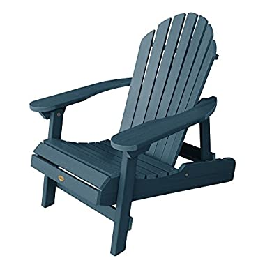 Highwood Hamilton Folding and Reclining Adirondack Chair, Adult Size, Nantucket Blue