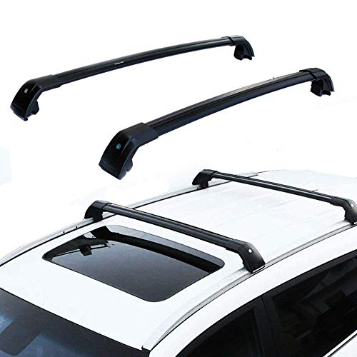 MotorFansClub Roof Racks Crossbars for BMW X5 F15 2014 2015 2016 2017 2018 Lockable Baggage Luggage Racks Roof Rail Cross Bar (2 PCS)