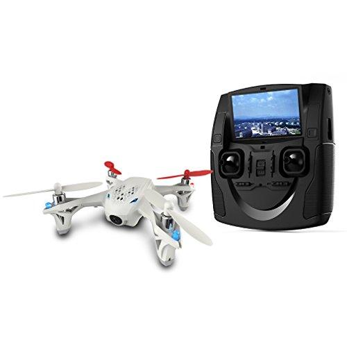 FPVRC Hubsan X4H107D Quadrocopter mit Kamera, Auflösung 640x 480 HD, WLAN, FPV 2,4Ghz, 4-Kanal, 6Achsen, ferngesteuerter Quadrocopter, Videoübertragung 5,8GHz–RTF