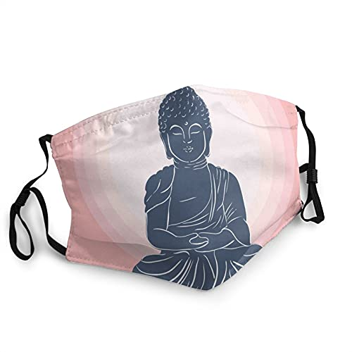 Adult Anti-Dust Face Mask Buddha Character Sport Outdoor Mouth Cover Mask