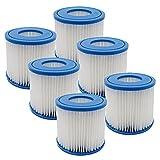 YanBan 6 filtros de Cartucho de bañera de hidromasaje para Bestway, tamaño Vi, Cartucho de Filtro de Repuesto Compatible con Lay-Z-SPA, Miami, Vegas, Palm Springs, Paris Monaco