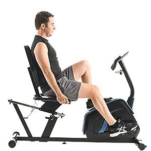 Exerpeutic Easy Step Thru Magnetic Recumbent Exercise Bike