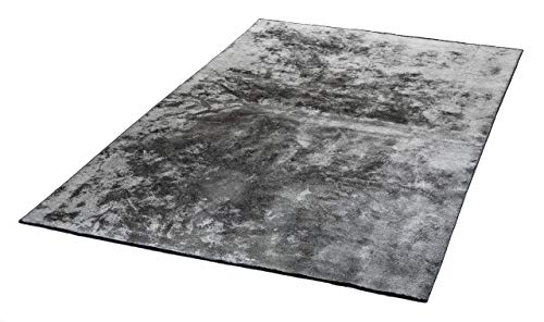 mimilos Kurzflor Teppich für Wohnzimmer-Dekorativer Baumwolle und Viskose Teppich - Teppich für modern Wohnung Dekoration-Teppich für Schlafzimmer,Esszimmer,Kinderzimmer(Silver, 120 x 180 cm)