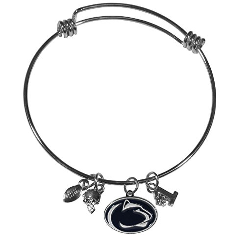 Siskiyou NCAA Penn State Nittany Lions Charm Bangle Bracelet, Metal, Adjustable