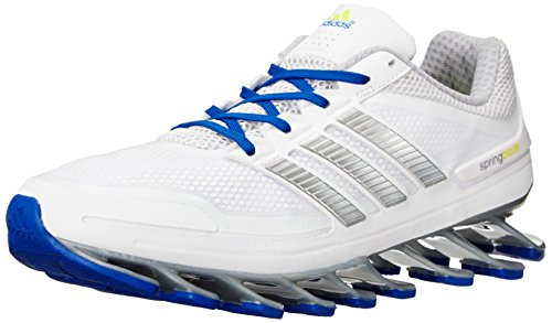 adidas Men's Springblade Running Shoe, White/Metallic Silver/Collegiate Royal, 13 US