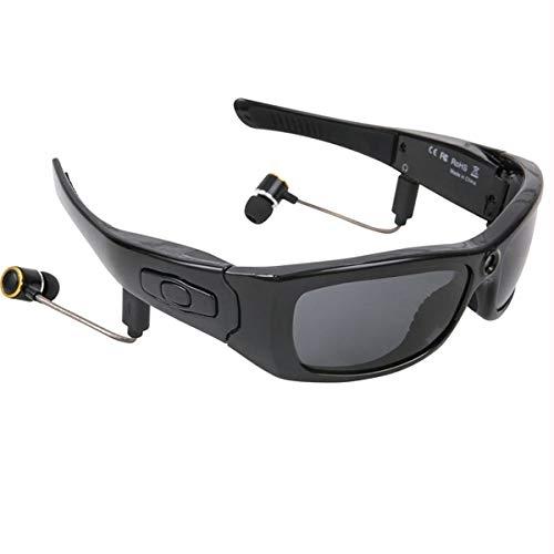 NewZexi Deportes Multifuncionales Gafas de Sol Gafas Bluetooth Cámara HD 1080P Mini DV Grabadora de Vídeo Auricular Bluetooth Reproductor de MP3 Gafas para Conducir Ciclismo Esquí Exterior Deporte