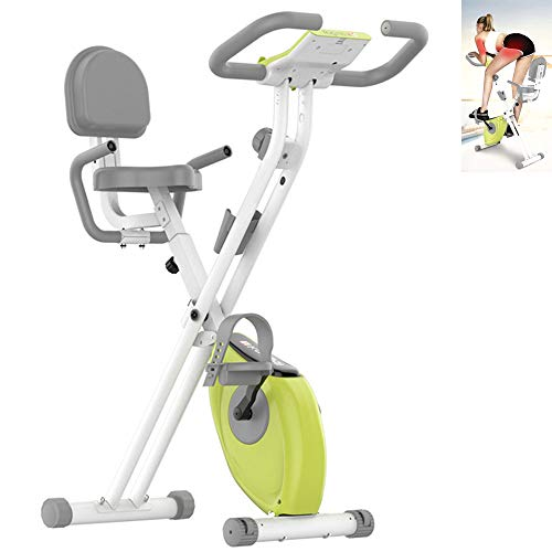 JUAN Bicicleta De Ejercicios Estática Plegable Hogar Mini Fitness Bicycle with Resistance Adjustable Seat Gym Home Workout Machines Cardio Training
