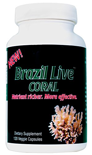 Best Coral Calcium Supplement - Live Harvested & Cold Processed Coral Calcium (120 Veggie Capsules) - from The Beaches of Brazil with Magnesium & Vitamin D3-40-Day Supply - Environmentally Safe