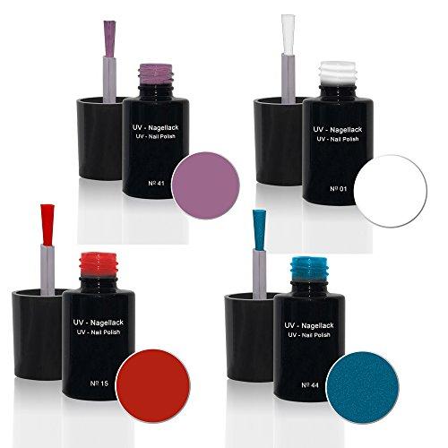 UV Vernis à ongles Set 4 x6ml - UV Vernis à ongles Set N°2