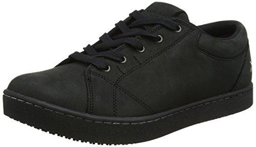 Shoes for Crews M31174-41/7 MOZO MAVI Rutschhemmende Sneaker, Damen, Größe 41 EU, SCHWARZ/Weiß