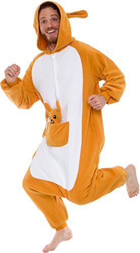 Silver Lilly Plush Kangaroo One Piece Animal Costume Unisex Adult Cosplay Pajamas...