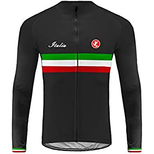 Uglyfrog Men Cycling Jersey Winter Long Sleeve Thermal Fleece Road Bike MTB Tops Outdoor Sports Shirts Bicycle Clothing Windproof National Team:Qukualian