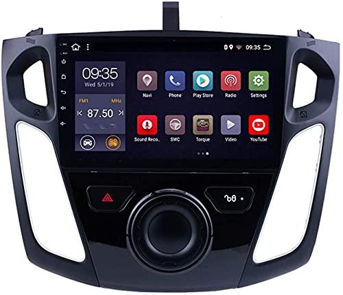 Android 10 Navegación GPS para Ford Focus (2012-2015) Reproductor Multimedia para Automóvil De 9 Pulgadas con GPS, WiFi, Bluetooth, Reproductor Multimedia De Radio para Automóvil,1+16G WiFi