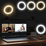 Ringlicht, Video Konferenz-Beleuchtungsset, 360°drehbar Tischringlicht USB Ringleuchte mit Clip für Videokonferenzen, Fernarbeit, Fernunterricht, Zoom Anrufbeleuchtung und Live-Streaming