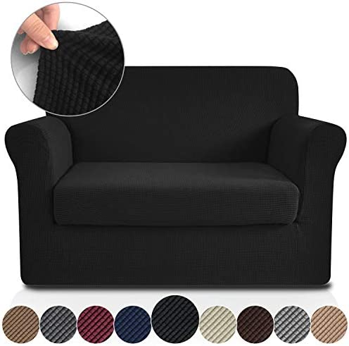 Best RHF 2 Separate Pieces Loveseat Cover, Slipcovers for Couches and Loveseats with Separate Cushion Cov