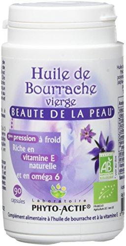PHYTO ACTIF - Huile Bourrache Vierge AB 90 Capsules Bio
