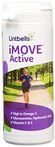Lintbells | iMOVE Active | Natural Joint Supplement for Humans with an Active Lifestyle, 90 Tablets - Includes Glucosamine HCl, Green Lipped Mussel, Hyraluronic Acid, Vitamin E and C and Manganese