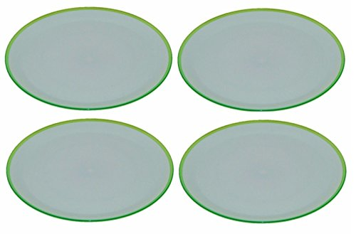 Koop set di 4 luminosi colorati piatti piatti di plastica 27 cm, Green