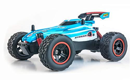 Ninco Co NincoRacers Stream. Coche teledirigido con tracción a las 2 ruedas. Acelaración progresiva. 2,4Ghz Color azul. Medidas: 21 cm x 15 cm x 8,5 cm, NH93130