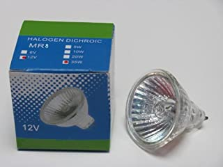 CBconcept® 3XMR812V20W Haloge Bulb MR8 12 Volt 20 Watt 30Degree - 3 Bulbs