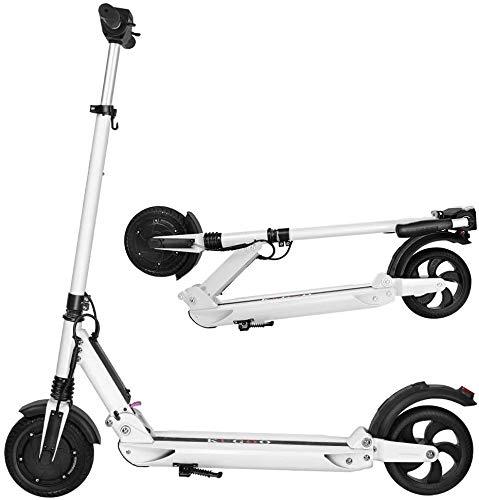 KUGOO S1 Patinete Eléctrico para Adultos, Scooter Electric Plegable Velocidad Máx 30 km/h, 350 Vatios, Batería 7.5Ah, Altura del Manillar Ajustable, Pantalla LCD, Impermeable IP54 (Blanco)