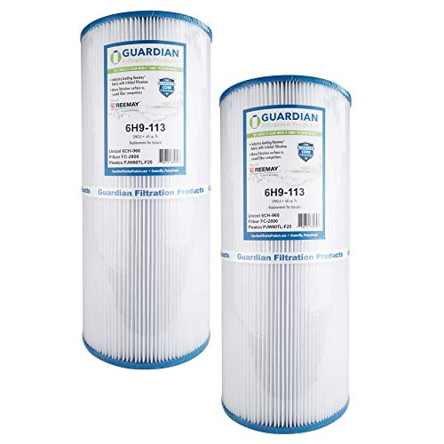 2 Guardian Pool Spa Filter Replaces Unicel 6CH-960, Pleatco...