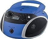 Grundig GRB 3000 BT Tragbare Radio Boombox mit Bluetooth Blau