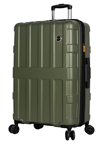 Lucas Luggage Hard Case 27' Expandable Suitcase With Spinner Wheels (27in, Stratus Olive)