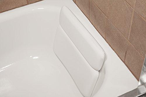 Deluxe Comfort Un Confort Luxueux Grande Vinyle Blanc et Relaxant de Mousse Cou Oreiller de Bain Spa Jacuzzi, Blanc, 2 Panel